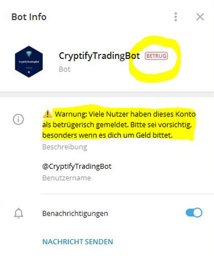 Cryptify-Trading-Bot Geschädigte?